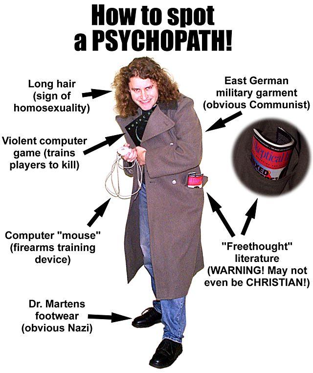 Ciri-ciri Seorang Psikopat