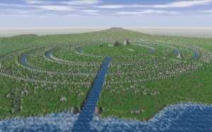 Lukisan Ibu Kota Atlantis