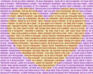 Ungkapan Cinta Dalam Berbagai Bahasa Maula
