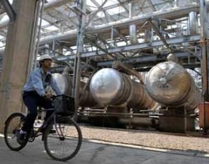 Pemandangan di salah satu sudut kawasan industri